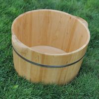 Pure solid wood tub cedar wood basin 100% wood tub footbath bucket feet basin