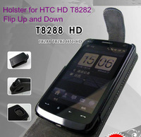 Flip up and down holster for HTC HD T8282 protective case free shipping