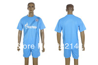Factory price! 12/13 Zenit St Petersburg home blue thai quality soccer football jersey+shorts kits,size:S/M/L/XL