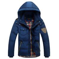 """King Returns""2014 Winter Duck Down Coat Male Short Design Men's Clothing Thickening Outerwear Male size M-XXXL superstar NNSC01"
