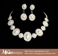 free shipping Migodesigns 2013 elegant Austria crystal silver magnetic baroque fresh water pearls jewelry