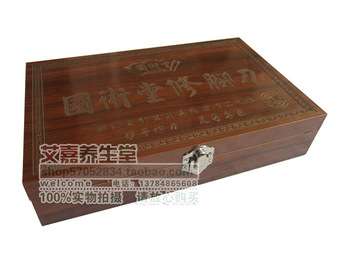 Free shipping Martial arts pedicure knife tungsten wooden box piece set professional pedicure tools