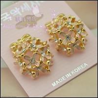 Fashion elegant stud earring unique sweet three-dimensional flowers stud earring exquisite quality earrings sweet
