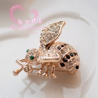 Quality exquisite rhinestone bling full of small bee brooch diamond brooch rhinestone clothes female