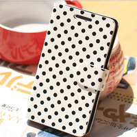 For apple   4 polka dot phone case  for iphone   4s polka dot holsteins or so open flip apple 4 protective case