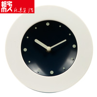 White japanese style brief clock 17cm wall clock ofhead clock