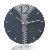 Derlook personality zipper wall clock mute wall clock fashion brief wall clock wall clock