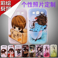 Personalized 2  for SAMSUNG   i9300 mobile phone protective case SAMSUNG i9300 phone case silica gel set