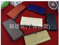 2013 New Flash Powder Gold Color Metal Trap Bags Purse Wallet Card Folder Handbags Designers Brand