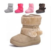 Free shipping!2013 HOT ! Girls Snow Boots Thicken Winter Children Shoes For 3-8 yrs Kids 2012 New Style 5 colour