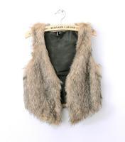 Free shipping Hot selling women Brand faux fur vest Winter  Ladies Short vest luxury fur coat &Jackets