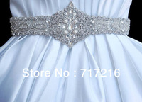 2013 royal design wholesale hand made beaded crystal luxury bridal belt waistband wedding dress sash