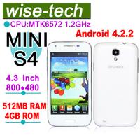 2013 original MINI MTK6572 Dual Core 512MB RAM 4GB ROM Android 4.2 mobile phone\blake