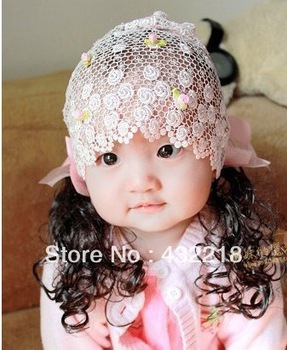 Free shipping TS18 Baby girls Hair Accessories baby hair bands hair wig Portal ribbon
