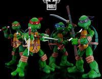 free shipping High Quality TMNT model Teenage Mutant Ninja Turtles  doll 14cm Ninja turtle action