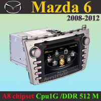 "7"" Car DVD Player autoradio GPS navi  Mazda6 Mazda 6 2008 - 2012  +3G WIFI + CPU 1GMHZ + DDR 512M + v-20 Disc + DVR + A8 Chipset"
