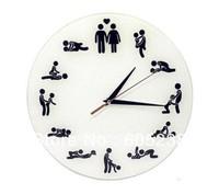 Sex Position Clock / 24Hours Sex Clock / Novelty Wall Clock