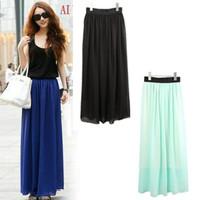 promotion New 2013 Fashion chiffon full pleated large vintage full skirt women clothing free shipping