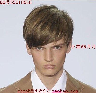 Fashion fashion mens wig boys straight hair wig short hair male wigs ...