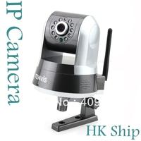 Wholesale 1pcs/lot Detection Tenvis  IProbot3 Wireless Indoor IR WIFI  IP Network Camera CCTV Nightvision White Free HK POST I12