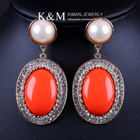 New arrival recommend gorgeous luxurious pear drop earrings Free shipping reached 20USD