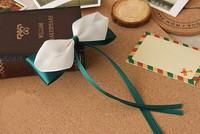 Fashion elegant handmade green ribbon bowknot hairwear free shipping 10pcs/lot