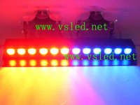 Police fire Warning light DC12V 12 LEDs 3W Emergency Windshield Red/Blue Strobe Lightbar