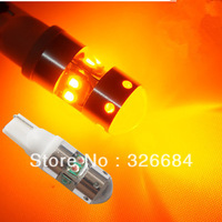 2pcs 40W Amber T10 194 168 921 2825 W5W 8 chips CREE LED Bright Car Light