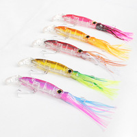 Free Shipping!! 20Pcs/Lots Squirt Octopus Skirt Trolling  Baites Fishing Lures Mix Color 220mm 40g free shipping!
