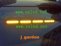 Police fire Warning light Car styling Traffic light Alarm warning 24 LED 1W EMERGENCY WINDSHIELD STROBE LIGHTBAR J46N Amber