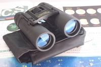 Newest Newest Binoculars tasco 10x25 telescope folding carry metal tube full rubber blue film