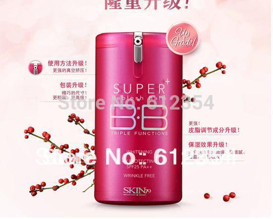 Free shipping New Hot pink super Plus skin 79 Whitening BB Cream sunscreen SPF25 PA++korean faced foundation makeup(China (Mainland))