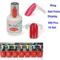 Freeshipping -10PACKS/LOT 50 pcs Polish UV Gel Colour Pops Display Nail Art Ring Style Nail Tips Wholesale SKU:F0149X