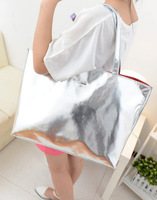 New arrival 2013 bag bright silver handbag shopping bag big bags beach bag picture package women's shoulder bag