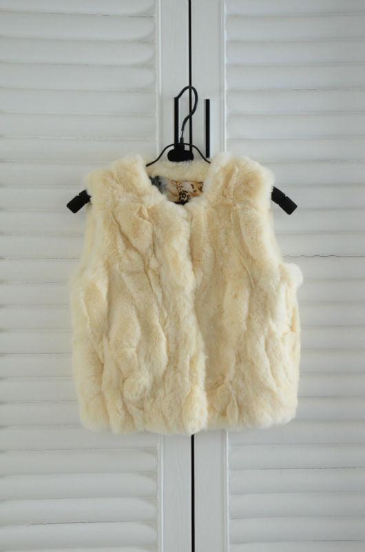 Boy Girl's rex rabbit fur vest children fur coat real fur over coat 7color wholesales drop shipping(China (Mainland))