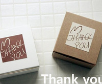 Free Shipping! Beautiful Thank You Stickers, Square Stickers, Envelop Seal Sticker, white coffee 100sheets/lot 600pcs