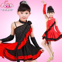 HO-01 Latin dance dress for girls Latin dance dress Child new 2014 Sparkling diamond Latin dance costume Tango dresses