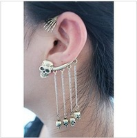 2014 New Fashion Hot-selling Jewelry Skeleton Earring Jackets Women