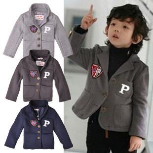 Free shipping 2015 autumn suits & blazers boy's suit  boys jacket casual clothing cardigan kids blazers jackets boys blazers
