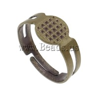 Free shipping!!!Zinc Alloy Finger Ring Setting,Jewelry Making, antique bronze color plated, nickel, lead & cadmium free