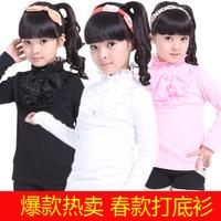Hot-selling 2013 children's clothing spring and autumn female child child t-shirt baby princess long-sleeve basic shirt