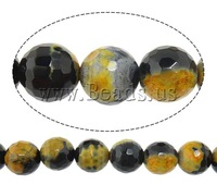 Free shipping!!!Natural Fire Crackle Agate Beads,Top Selling, Round, natural, 8mm, Hole:Approx 1mm, Length:Approx 15 Inch