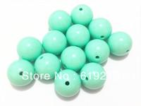20MM 100pcs/lot Mint GreenAcrylic Beads,Chunky Necklace Beads,Acrylic Gumball Beads For Chunky Necklace