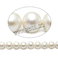 Free shipping!!!Round Cultured Freshwater Pearl Beads,Lovely Jewelry, natural, white, High Replica, 13-15mm, Hole:Approx 0.8mm