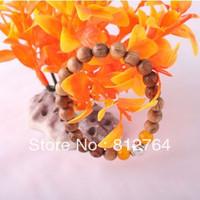 10pcs/lots Gift Present Men's 20*8mm yellow rosewood beads+2*8mm carnelian beads+Metal Buddha head charm bracelet Man&Woman wear