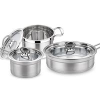 Gift box pot group set piece set fashion steel thickening stainless steel soup pot milk pot frying pan