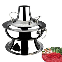 28 32 34 copper hot pot charcoal thickening stainless steel old fashioned charcoal pot charcoal pot traditional hot pot