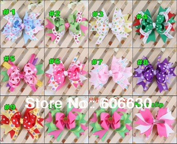 2013 Newest hot Baby multicolour clip Hairpin Hiargirps Girls hairbow Infant hairbows Toddler Girl hair clip baby tiny Bows