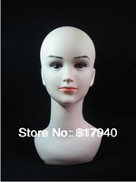 Realistic Plastic mannequin female head for wig & hat & glass,mannequin dummy head,mannequins display