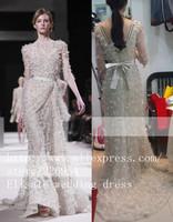 Red Carpet Evening Dress Celebrity Dress Fashion Elie Saab Real Pictures 2013 Handmade Formal Dress Custome Dresses